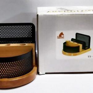 WW 35 Golden Horse Memo Holder Paper Holder Case Slip Rack with Pen & Card stand