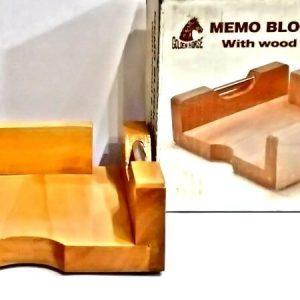 WAH 04 Golden Horse Memo Holder Paper Holder Case Slip Rack