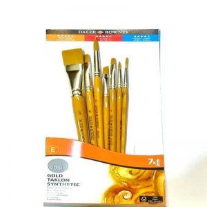 216920700 Daler Rowney Simply Acrylic Brush 7 piece