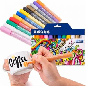 1000/12 STA 12 Colors Acrylic Paint Markers